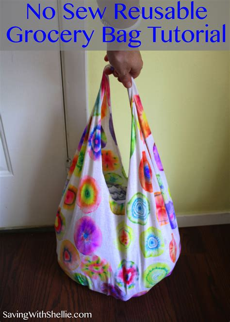 pattern for t shirt tote bag no sew grocery bag tutorial