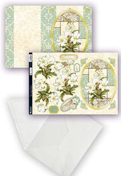 Decoupage Card Kits - serenity die cut decoupage card kit kanban 9188