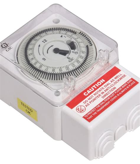 L Timer by Buy L T Gic Analog Timer Switch White At Low