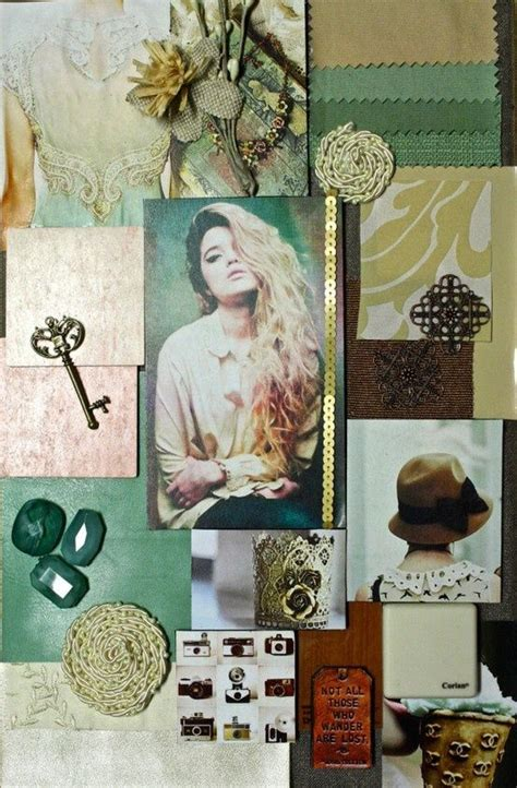 Design Concept Fashion | mint gold and brown interior design concept board