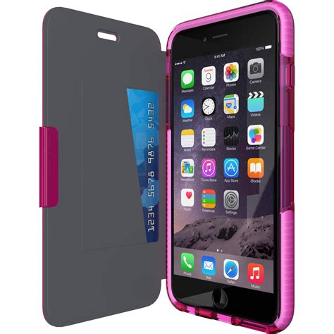h iphone 6 tech21 evo wallet for iphone 6 plus pink t21 5161 b h