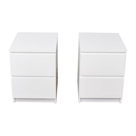Ikea Malm Side Table 40 Ikea Ikea Malm White Two Drawer End Tables Tables
