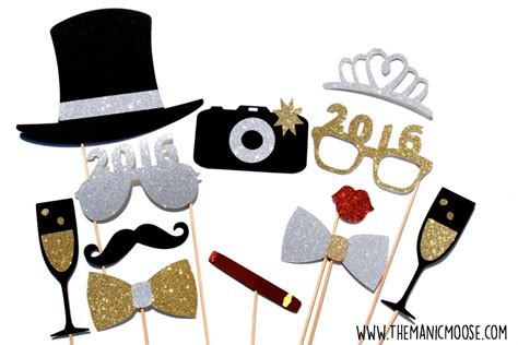 new year photo booth props new years photo booth props silver and gold you choose