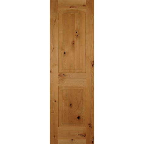 2 Panel Arch Top Interior Doors Builder S Choice 24 In X 80 In 2 Panel Arch Top Unfinished Solid Knotty Alder Single