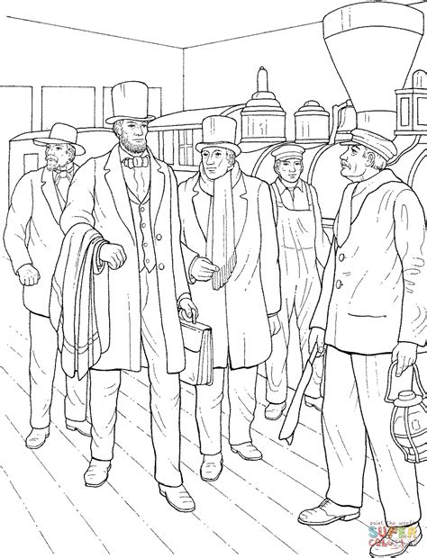free coloring pages abraham lincoln abraham lincoln coloring pages printable coloring home