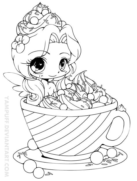 chibi food coloring pages this lineart is very special to me since it have a