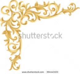 Corner Photo Frames corner goldpage decoration decorative frame floral stock