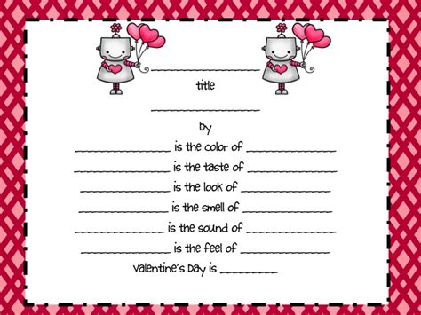 valentine s day poetry grammar review fancy free in 4th