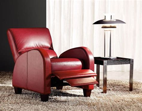 red recliner chair coleraine leather recliner chair in red dl lounge