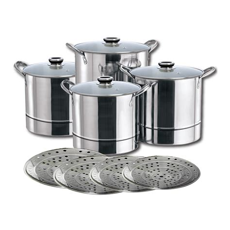 induction kitchen set induction safe 4pcs stainless steel stock pot kitchen cookware set with steamers ebay