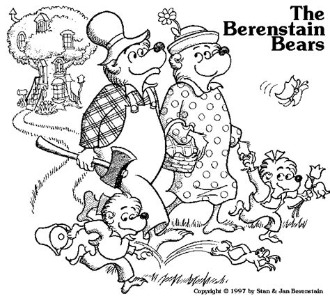 The Berenstain Bears Coloring Pages berenstain bears coloring pages coloringpagesabc