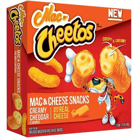 Mac N Cheetos mac n cheetos mac cheese snacks cheddar flavored