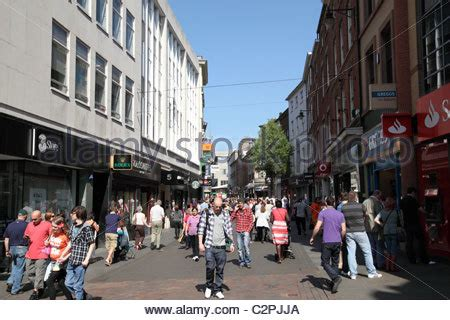 clumber street nottingham people shopping and walking