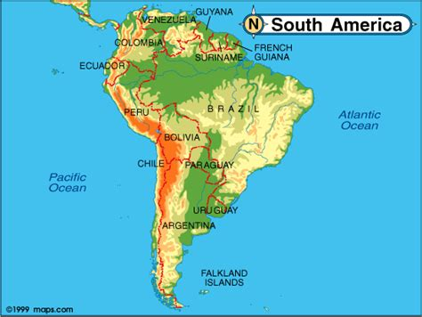map of us canada and south america global maps