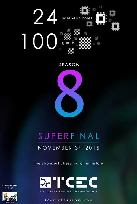 tcec season  superfinal  strongest chess match