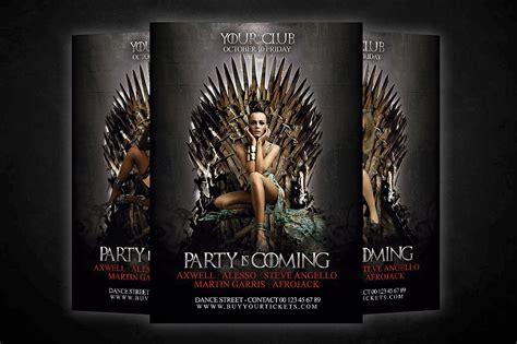 of thrones card template of thrones flyer flyer templates creative market