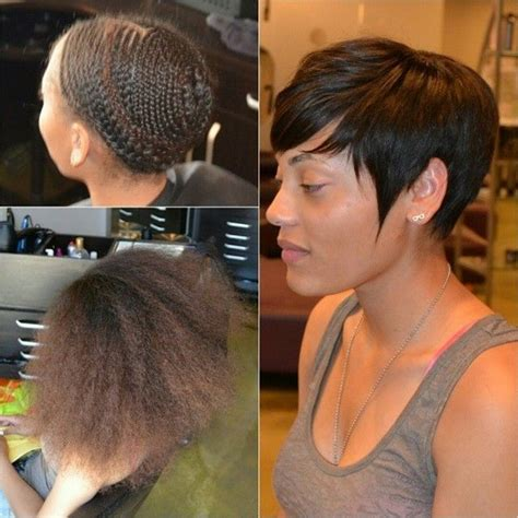 extensions for pixie cut hair 40 chic sew in hairstyles for black women