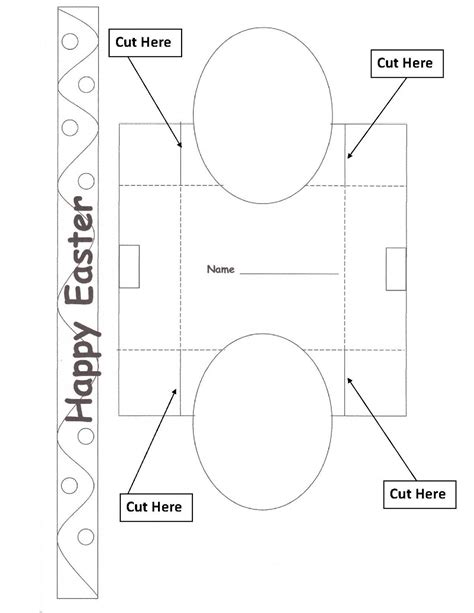 Easter Basket Template For early play templates want to make a simple easter basket