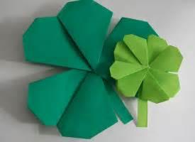 Origami Shamrock - origami shamrock