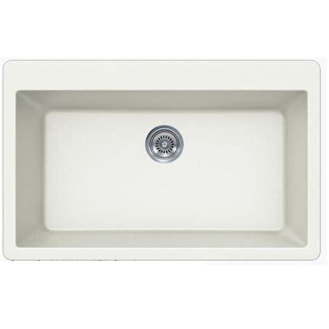 White Undermount Single Bowl Kitchen Sink White Quartz Composite Single Bowl Undermount Drop In Kitchen Sink 33 X 21 X 9 Inch