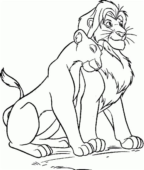 lion king nala coloring pages lion king coloring pages nala and simba az az coloring pages