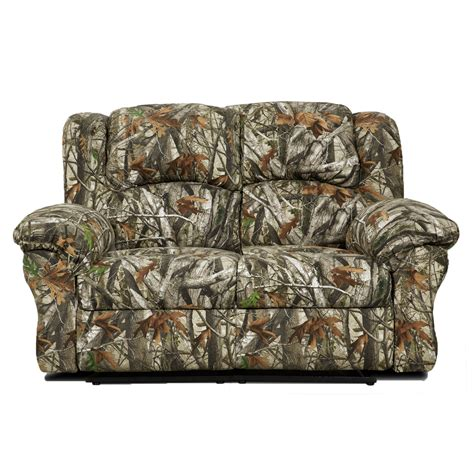 Camo Double Reclining Loveseat Hup007drl Ca Camo Reclining Sofa