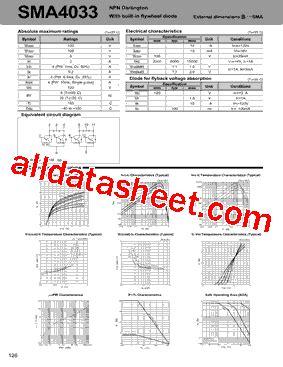 flywheel diode part number sma4033 datasheet pdf sanken electric