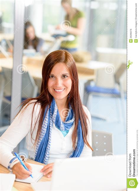 dreamstime high school girls smiling high school student girl take notes royalty free
