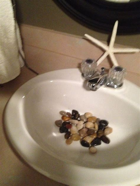 rocks in bathroom sink 58 best rock s n my bathroom sink images on