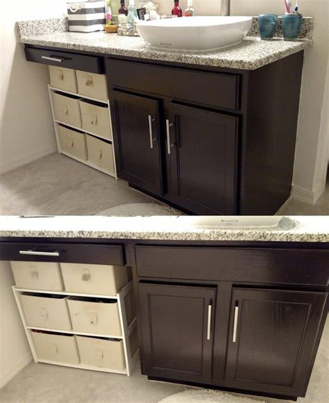 general finishes java gel stain kitchen cabinets bathroom transformation in java gel stain general