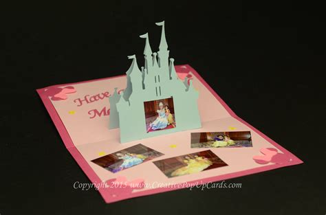 disney card templates castle pop up card template