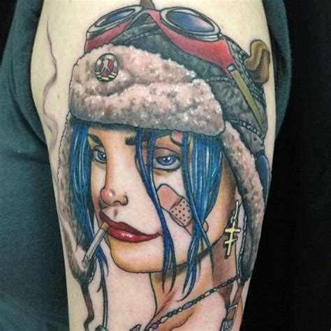 tank girl tattoo still so in with my tank tankgirl