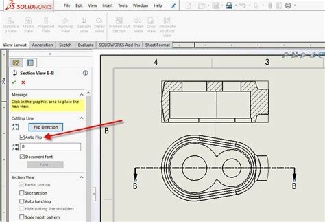 solidworks section view how to switch a solidworks section view direction with