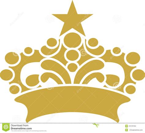 eps format adobe illustrator crown with star design graphic vector art stock vector