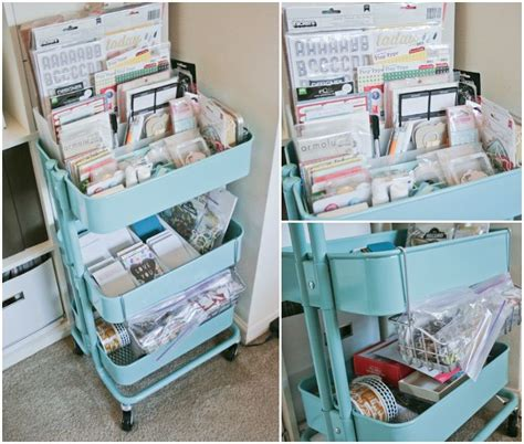 ikea craft cart a turquoise raskog cart from ikea art supplies