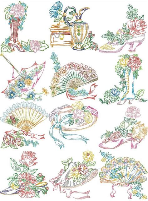 embroidery design ladies victorian ladies accessories machine embroidery designs