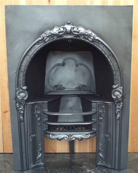 original restored antique cast iron fireplace