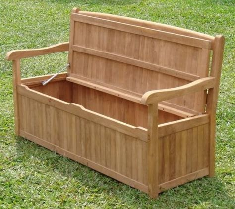 garden bench box with storage 5 feet grade a teak wood outdoor patio bench with storage