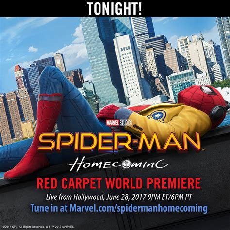 film streaming spider man homecoming spider man homecoming world premiere streaming live