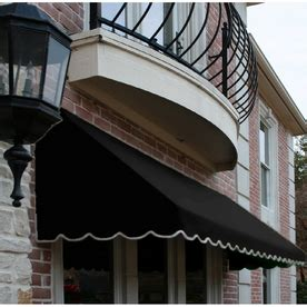Awntech Awning by Shop Awntech 100 5 In Wide X 24 In Projection Black Solid