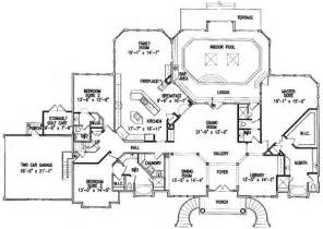 plan 15675ge luxurious indoor pool house plans one