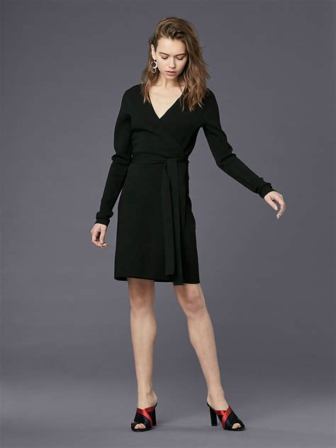 Sleeve V Neck Knit Dress dvf designer wrap dress wrap around dress collection dvf