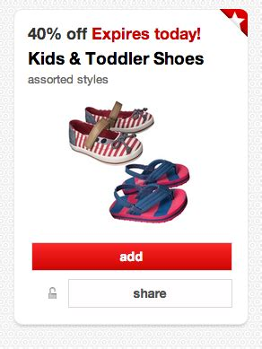 coupons for toddler shoes