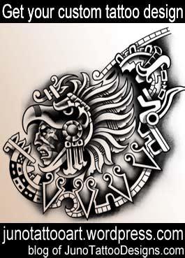 aztec warrior tattoo chest tattoo custom design jpg