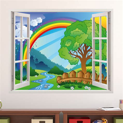 Wandtattoo Kinderzimmer Regenbogen by Kinderzimmer Wandtattoo Regenbogen