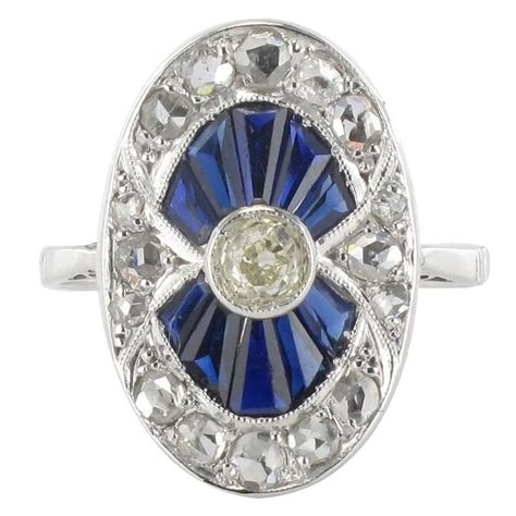 deco rings for sale deco calibrated sapphire and ring for