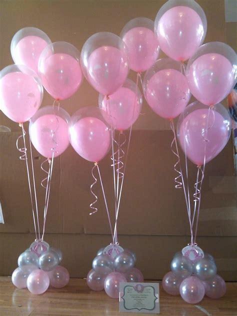 pink  gold baby shower balloon centerpiece google