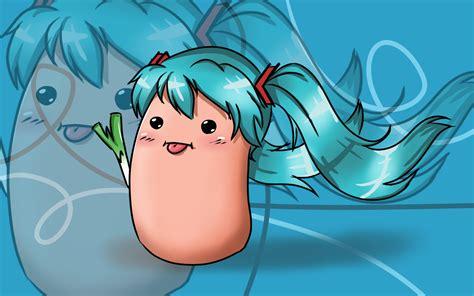 Hatsune Miku á ÿ Anime Nã O Kawaii Potato Miku By Vocaloid12028 On Deviantart