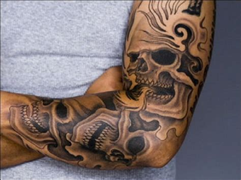 la ink tattoos skull la ink designs on sleeve inofashionstyle