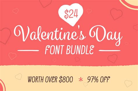 valentines fonts last day fall in with the font bundle 9
